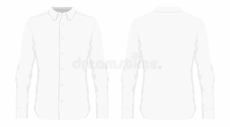 Mężczyzna ` s biała smokingowa koszula ilustracji