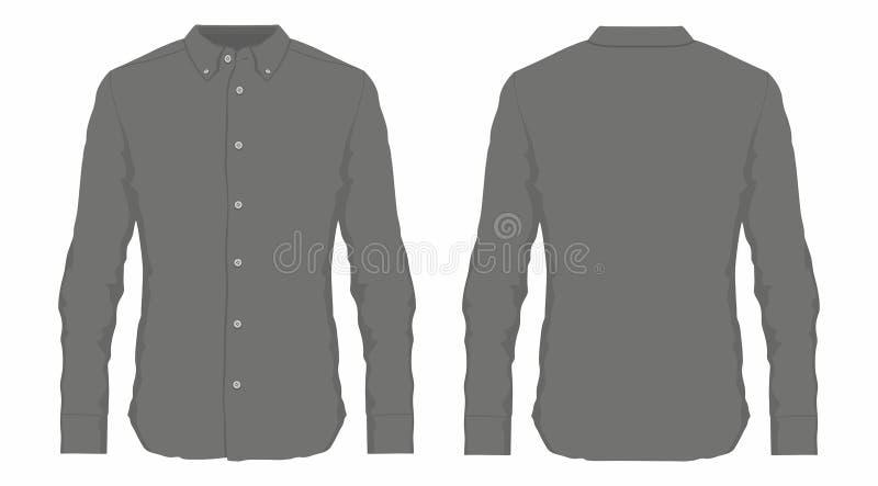 Mężczyzna ` s czarna smokingowa koszula ilustracji