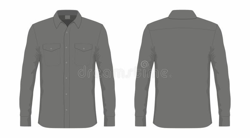 Mężczyzna ` s czarna smokingowa koszula royalty ilustracja