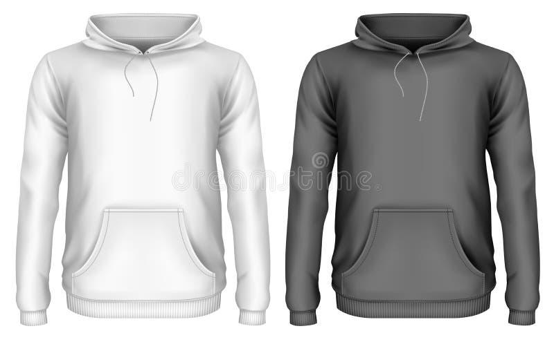 Mężczyzna ` s hoodie ilustracji