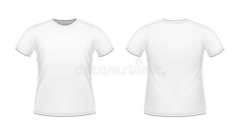 mężczyzna s koszula t biel ilustracja wektor