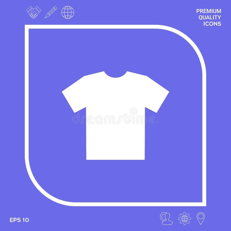 Mężczyzna ` s koszulki ikona sylwetka Menu rzecz w sieć projekcie royalty ilustracja