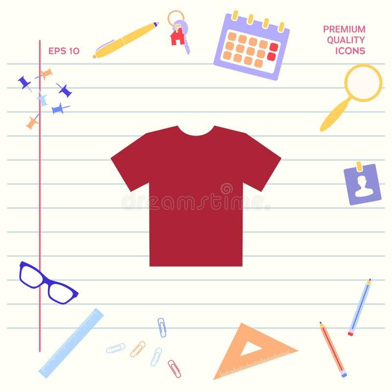 Mężczyzna ` s koszulki ikona sylwetka Menu rzecz w sieć projekcie Graficzni elementy dla twój projekta ilustracja wektor