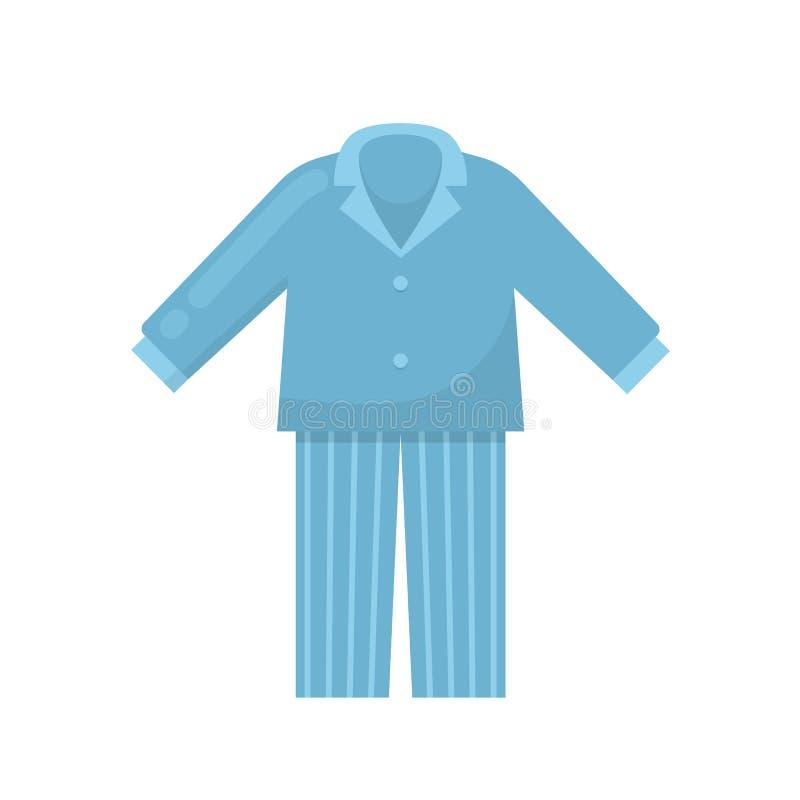 Mężczyzna ` s piżamy, koszula nocna, sypialna koszula, dom odziewają, noc kostium ilustracji