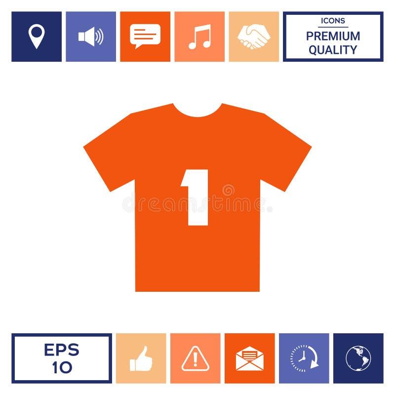 Mężczyzna ` s sporta koszulki ikona sylwetka Menu rzecz w sieć projekcie royalty ilustracja