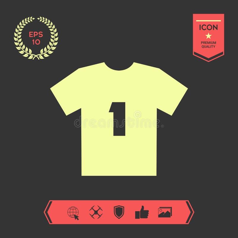 Mężczyzna ` s sporta koszulki ikona sylwetka Menu rzecz w sieć projekcie ilustracji