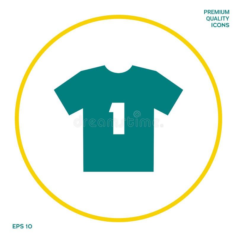Mężczyzna ` s sporta koszulki ikona sylwetka Menu rzecz w sieć projekcie ilustracja wektor