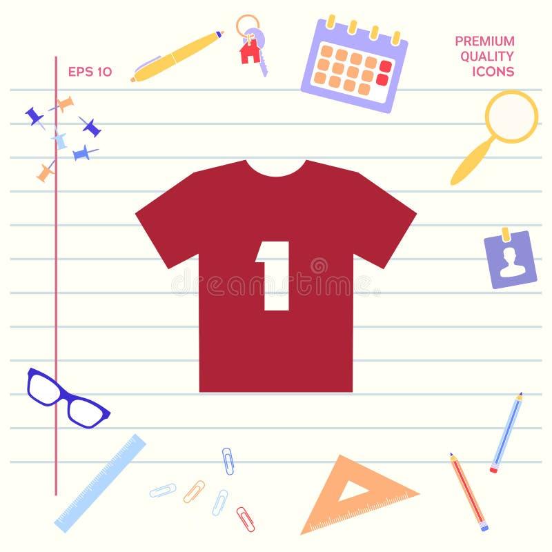 Mężczyzna ` s sporta koszulki ikona sylwetka Menu rzecz w sieć projekcie Graficzni elementy dla twój projekta ilustracja wektor
