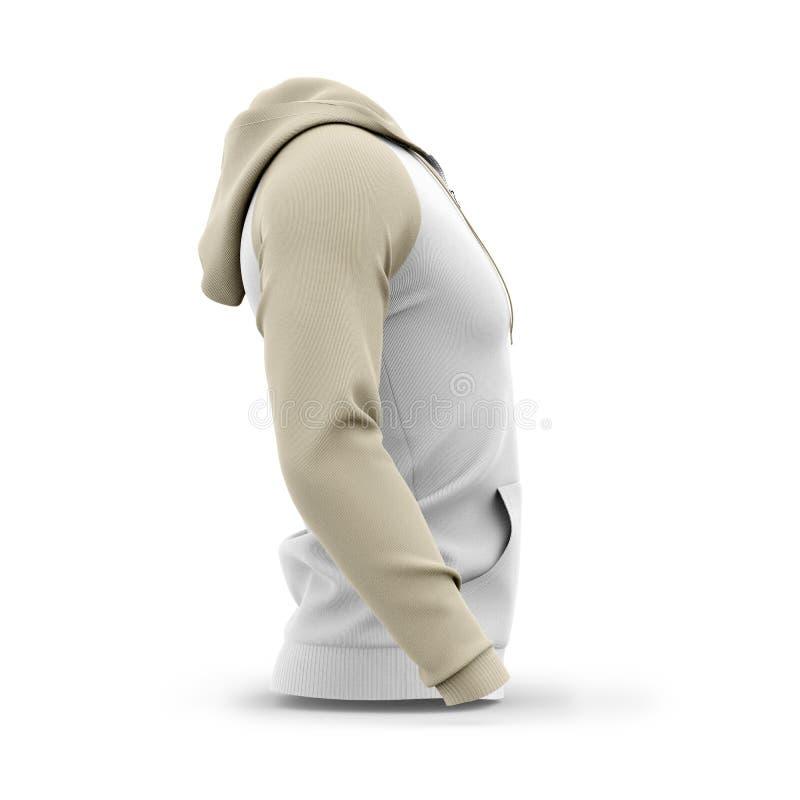 Mężczyzna ` s zamka błyskawicznego kapturzasta bluza sportowa ilustracji