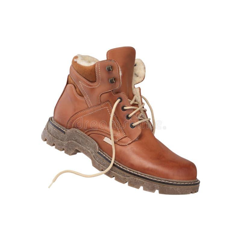 Mężczyzna ` s zimy rzemienni buty fotografia royalty free