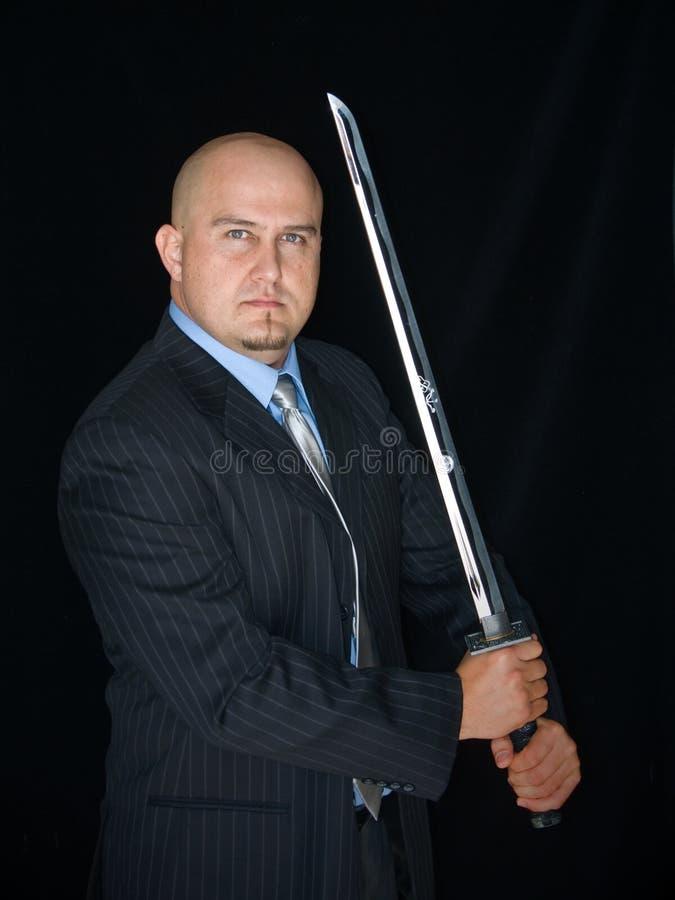 mężczyzna samurajów kordzik obrazy stock