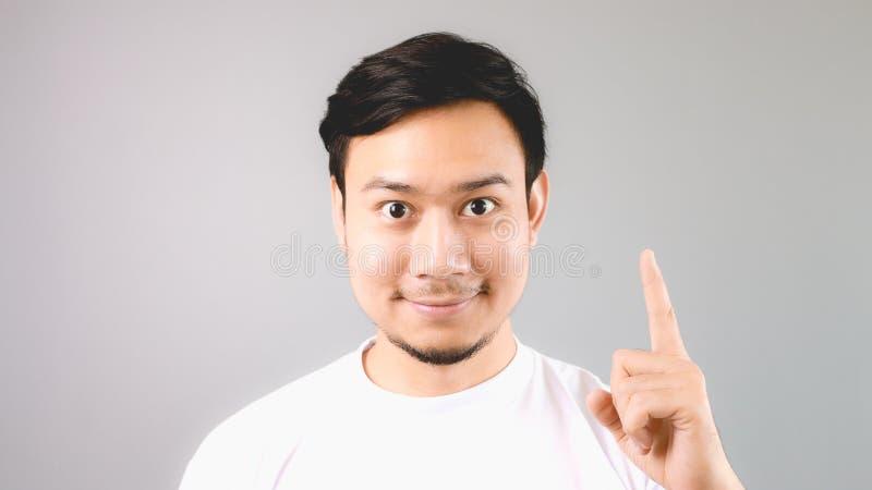 Mężczyzna seansu ręki znak pierwszy rzecz obraz stock