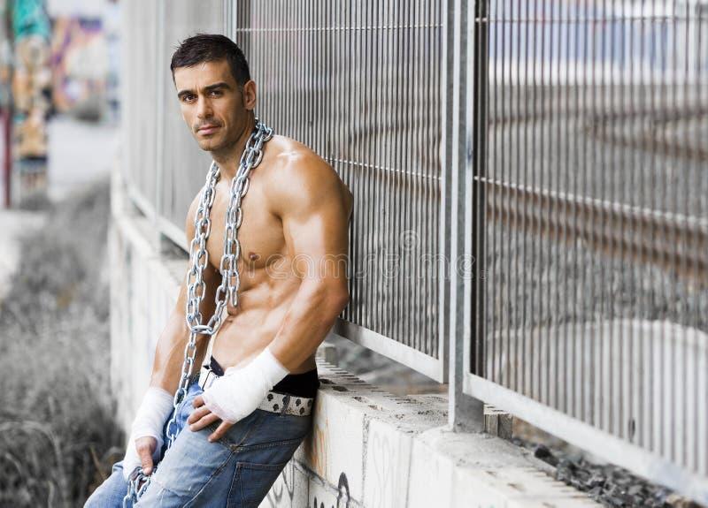 mężczyzna seksowny grubiański zdjęcie stock