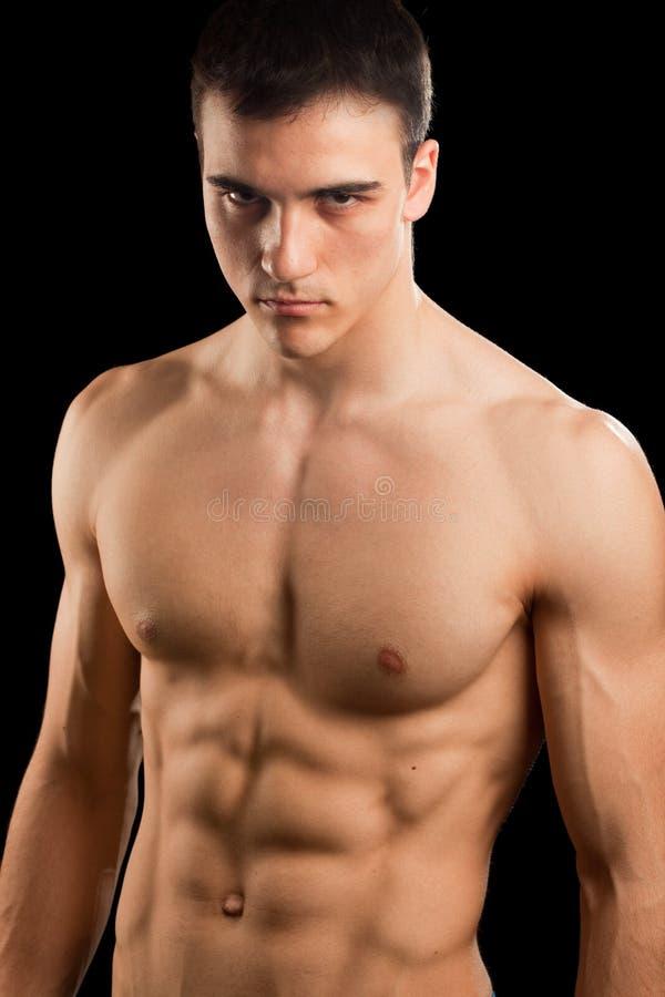 mężczyzna seksowny mięśniowy fotografia stock