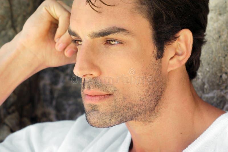 mężczyzna seksowny profilowy fotografia royalty free