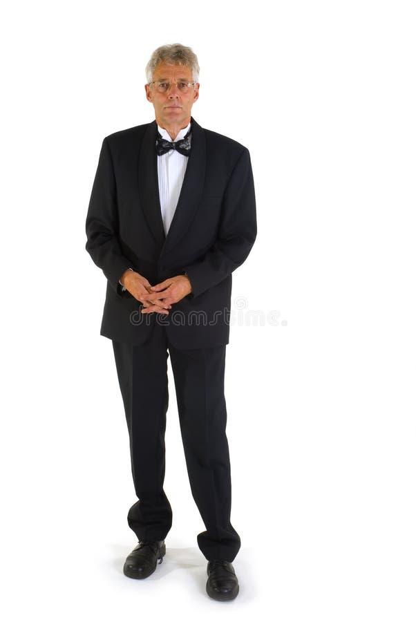 mężczyzna seniora smoking fotografia stock