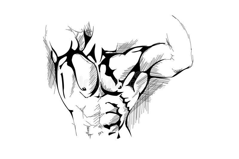 mężczyzna silny ilustracja wektor