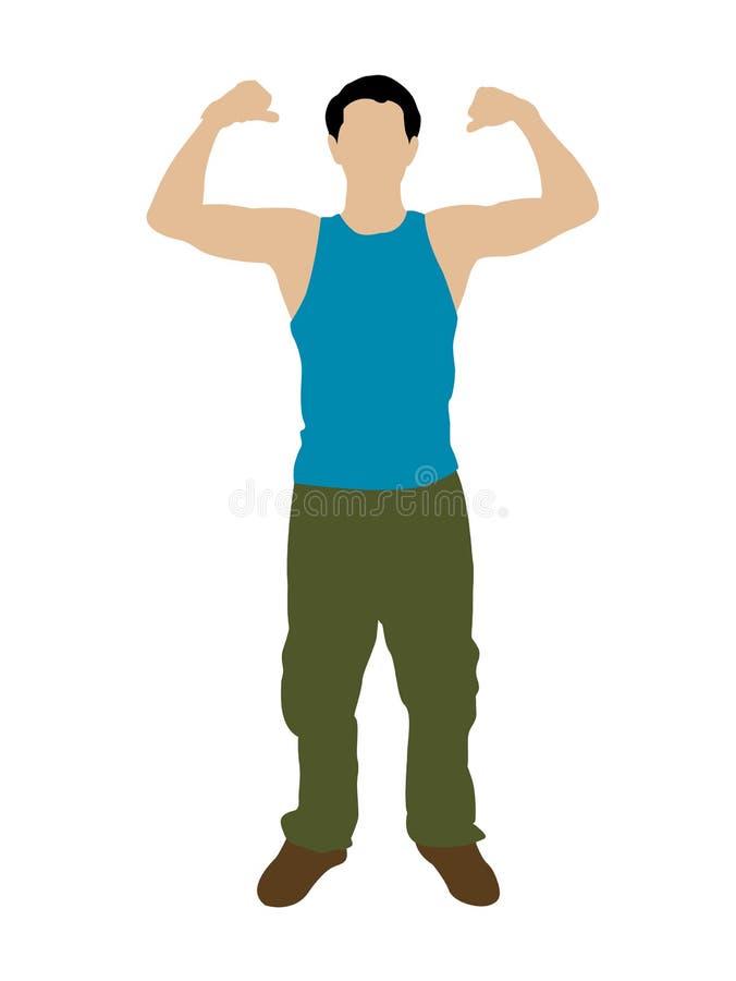 mężczyzna silny ilustracji