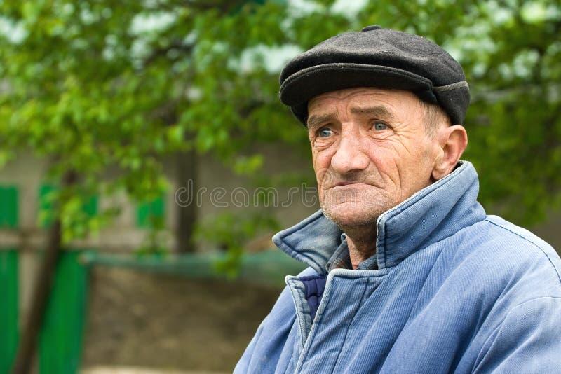 mężczyzna smutny stary fotografia royalty free