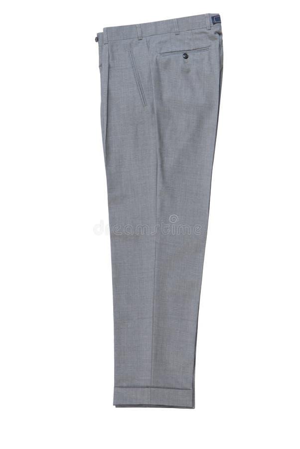 Mężczyzna spodnia popielaci klasyczni. obrazy royalty free