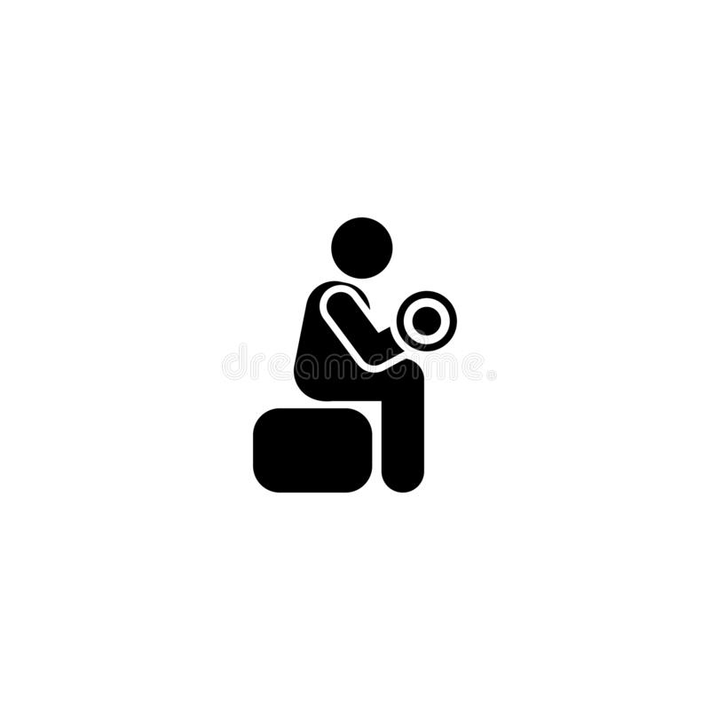 Mężczyzna, sporty, gym, ćwiczenie, stażowa ikona Element gym piktogram Premii ilo?ci graficznego projekta ikona podpisz symboli royalty ilustracja