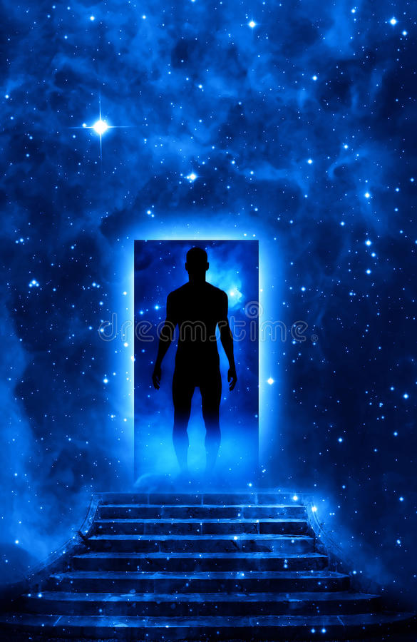 mężczyzna sprawy duchowe obraz stock