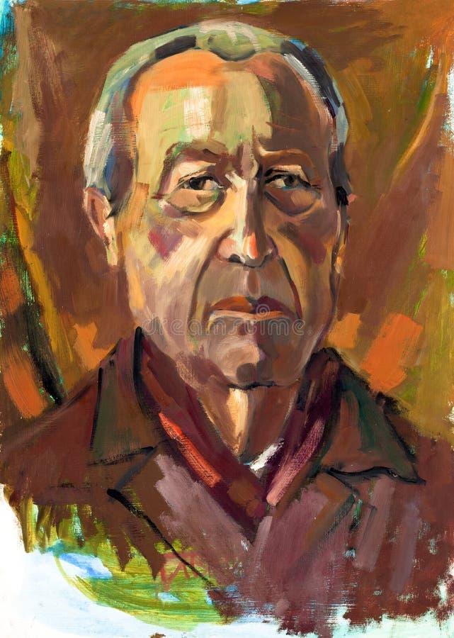 Mężczyzna starszy portret royalty ilustracja