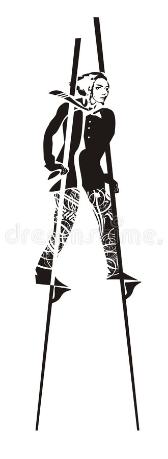 mężczyzna stilts obraz stock
