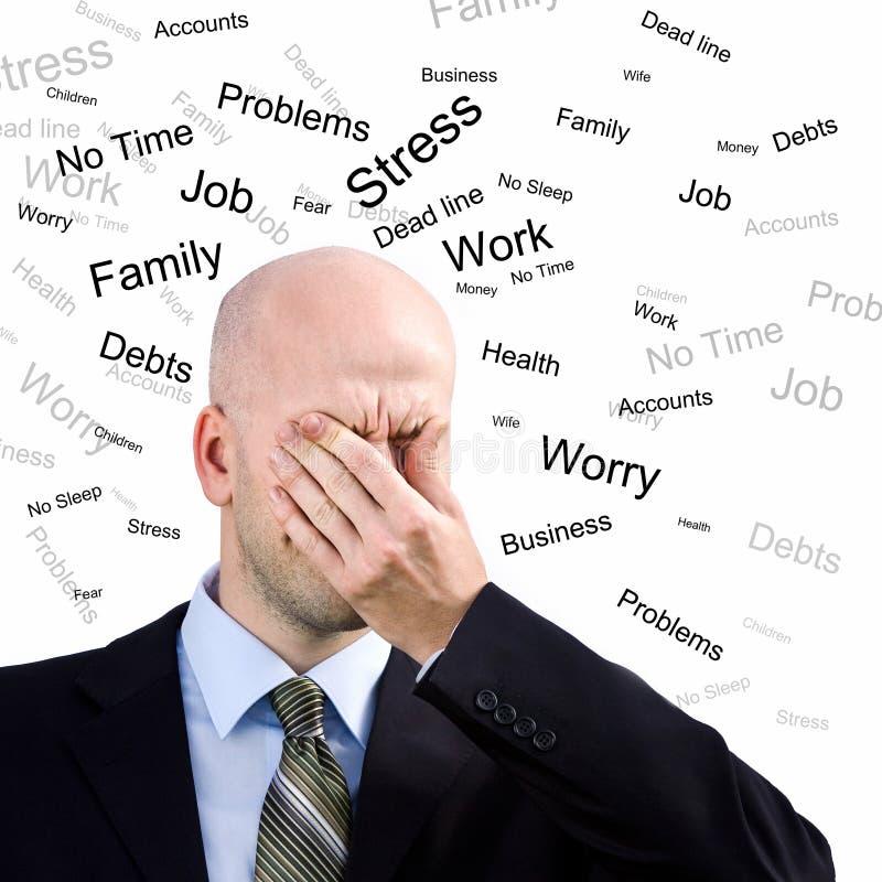 mężczyzna stres zdjęcie royalty free