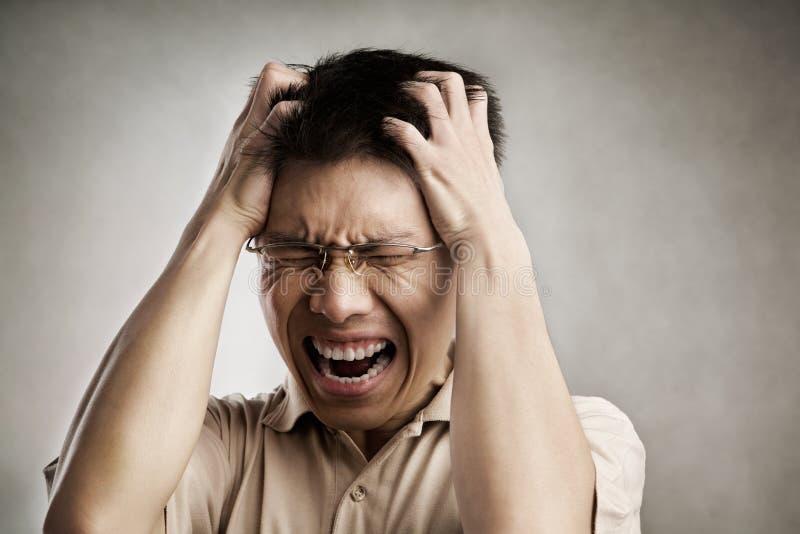 mężczyzna stres zdjęcia stock
