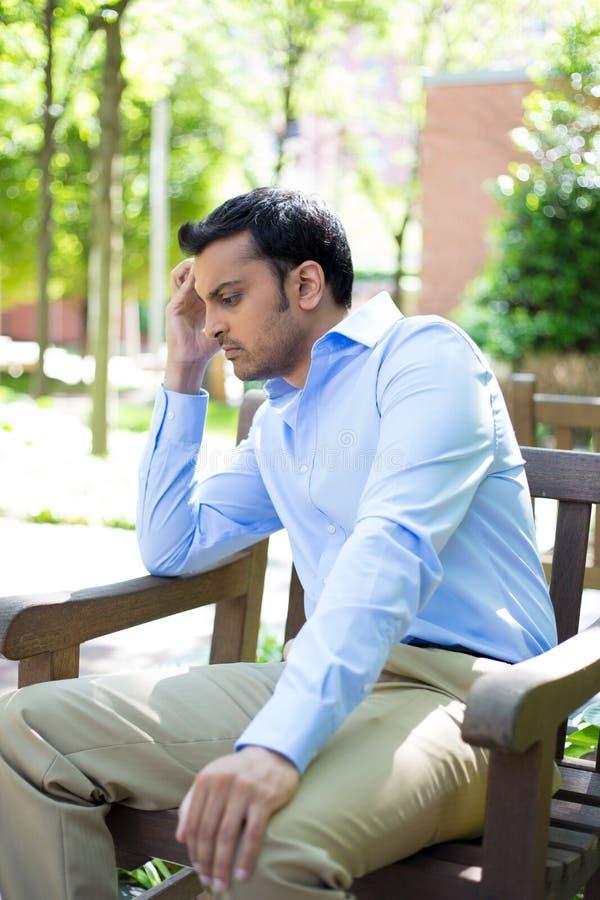 mężczyzna stresować się stresujący się obraz stock