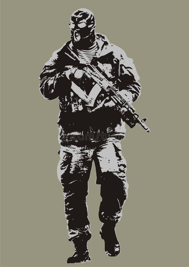 mężczyzna strzelanina ilustracja wektor