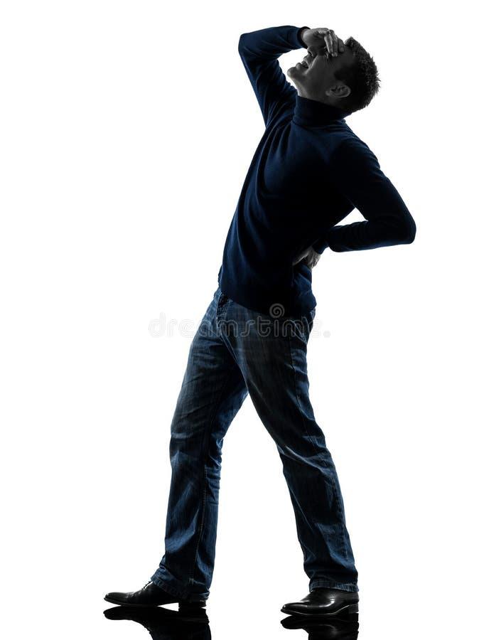 Mężczyzna sylwetka folująca długość zdjęcia stock