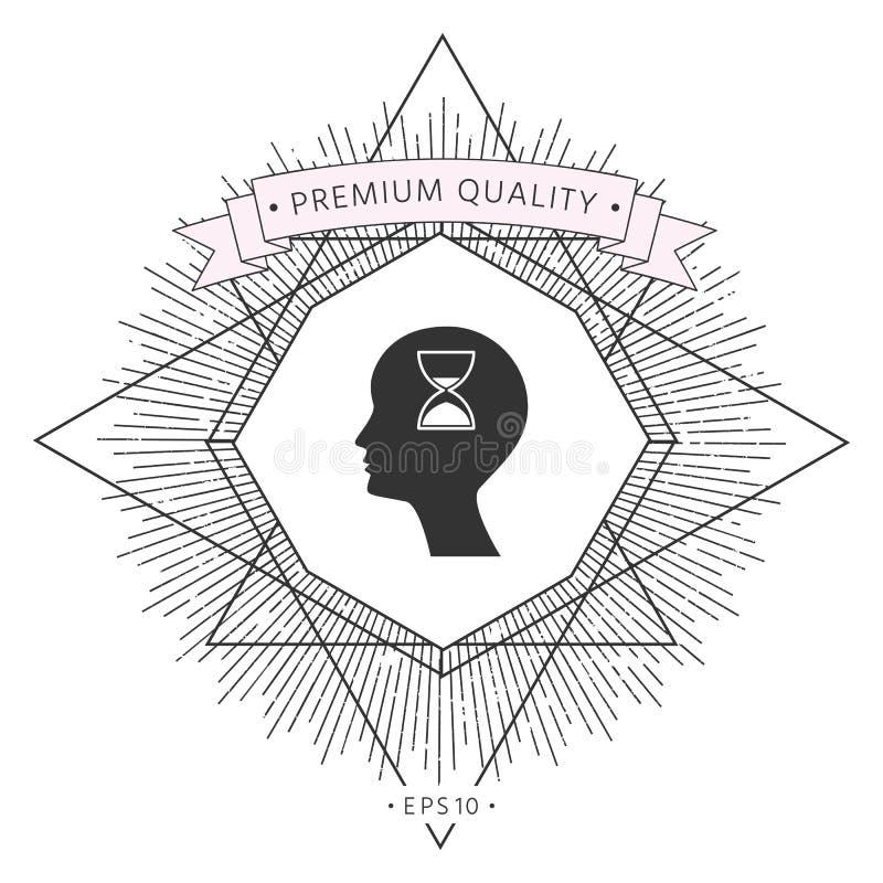 Mężczyzna sylwetka z hourglass ilustracja wektor