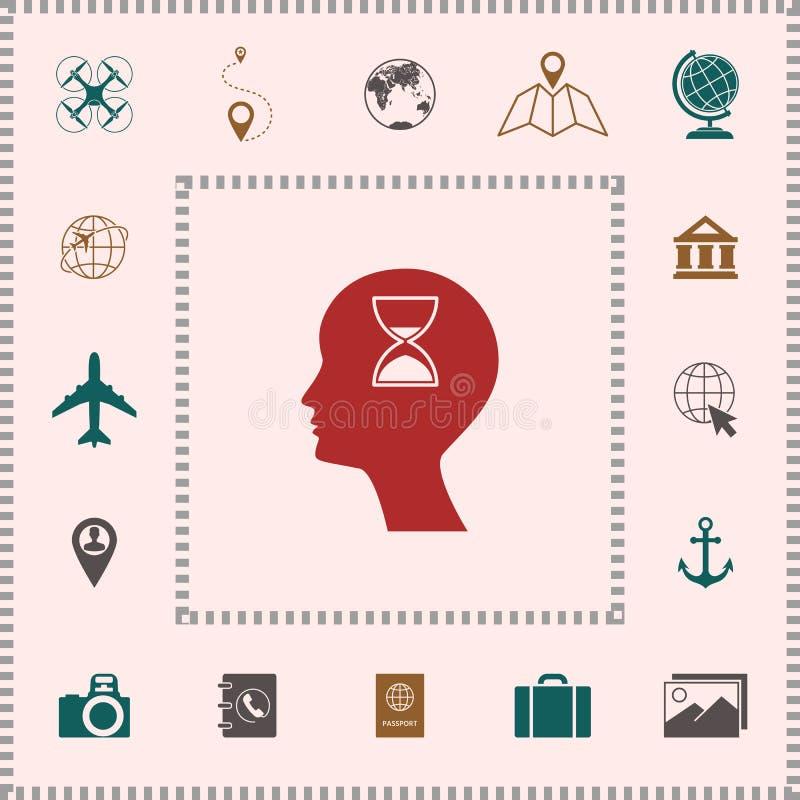Mężczyzna sylwetka z hourglass elementy projektów galerii ikony widzą odwiedzić twój więcej moich piktogramy proszę ilustracji