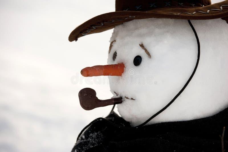 mężczyzna szczęśliwy śnieg obraz royalty free