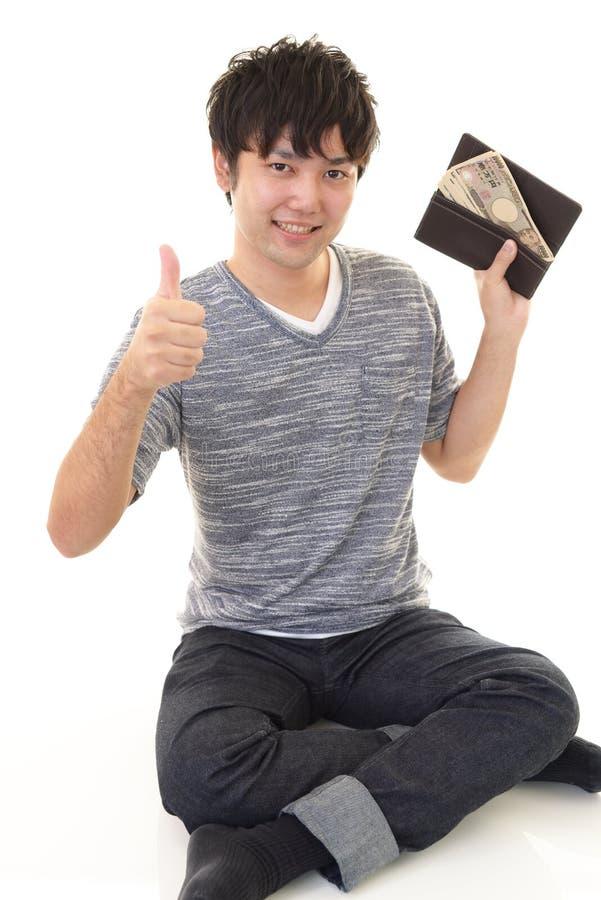 mężczyzna szczęśliwy pieniądze obraz stock
