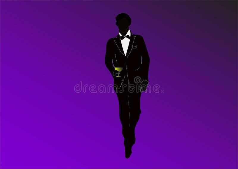 mężczyzna szklany dymienie fotografia royalty free