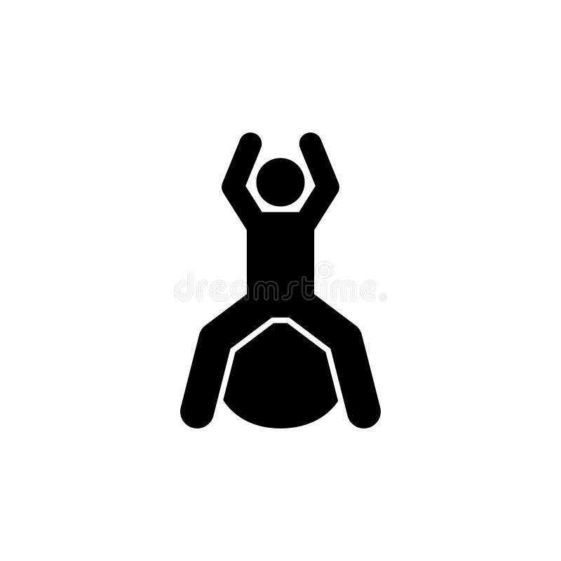 Mężczyzna, szkolenie, dieta, piłka, gym ikona Element gym piktogram Premii ilo?ci graficznego projekta ikona znaki i symbole inka ilustracji