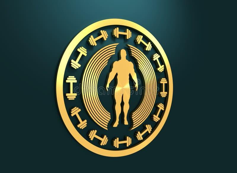 mężczyzna target1188_0_ mięśniowy Bodybuilding żakiet ręki ilustracji