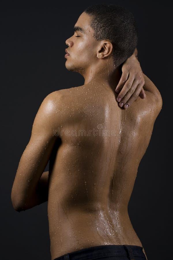 mężczyzna TARGET76_0_ prysznic zdjęcie royalty free