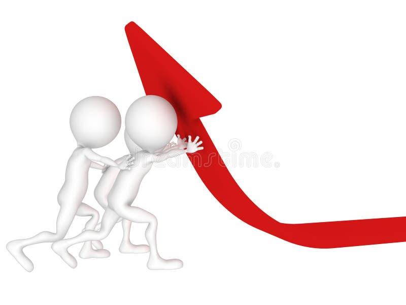 Mężczyzna target928_1_ czerwoną strzała ilustracji