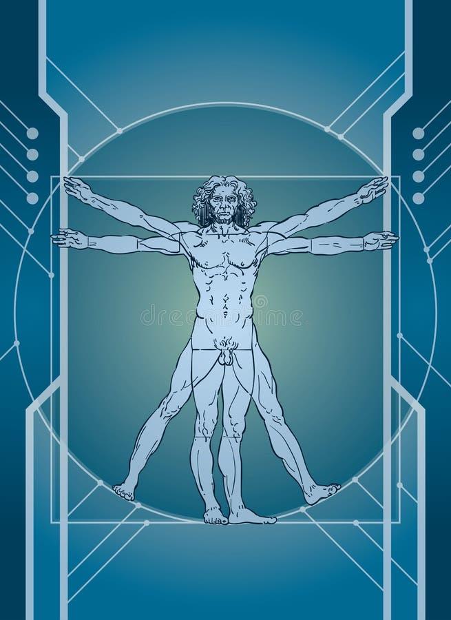mężczyzna technologia royalty ilustracja