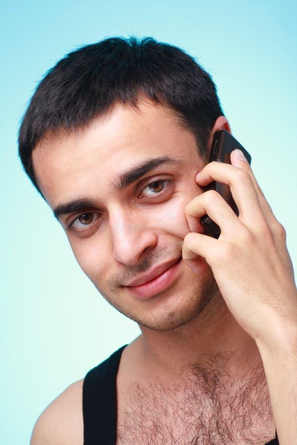 mężczyzna telefon komórkowy zdjęcia stock