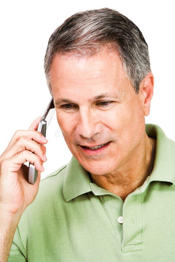 mężczyzna telefon komórkowy używać obraz stock