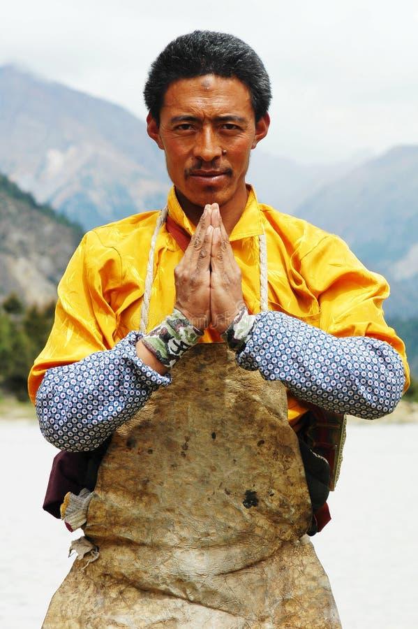 mężczyzna tibetan zdjęcia stock