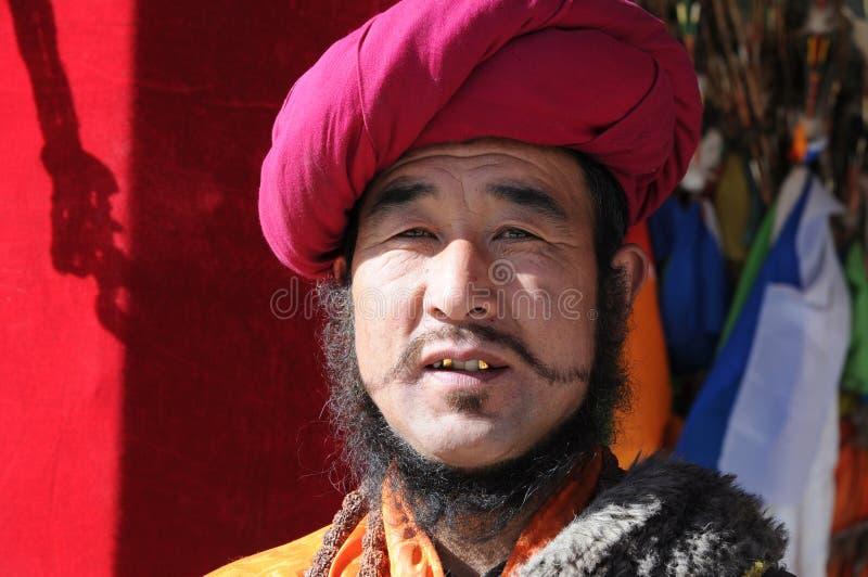 mężczyzna tibetan fotografia royalty free