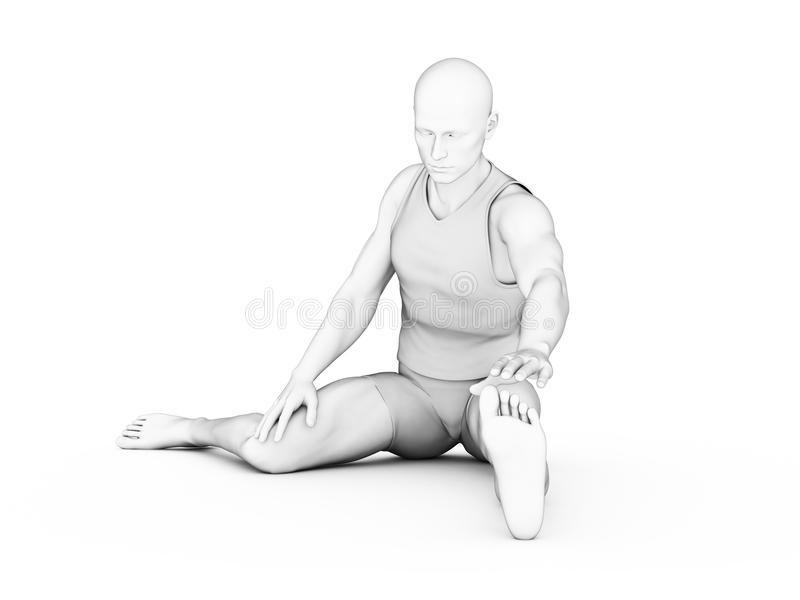 Download Mężczyzna - trening ilustracji. Ilustracja złożonej z koszula - 28962558