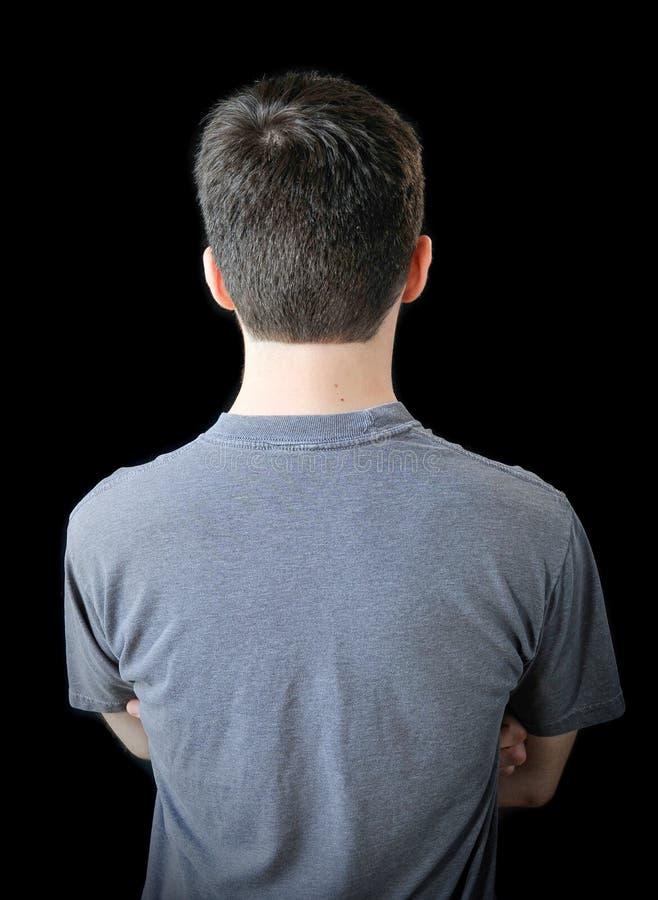 mężczyzna tylni potomstwa zdjęcie stock