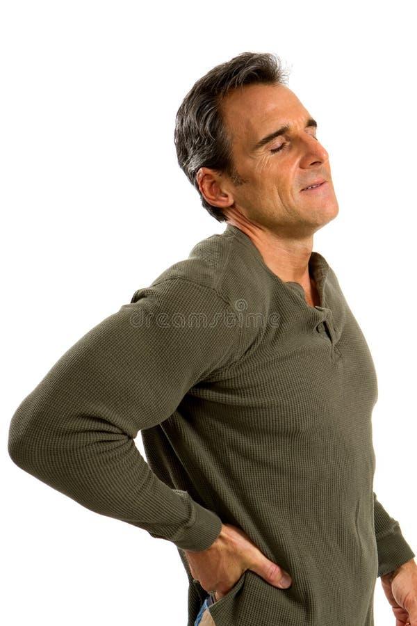 mężczyzna tylny ból zdjęcia stock